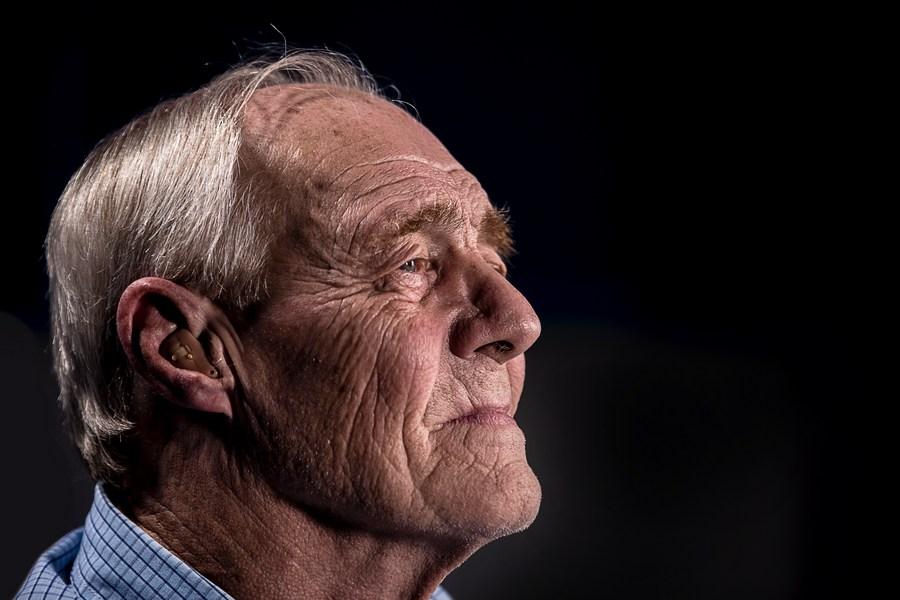 old man hearing loss